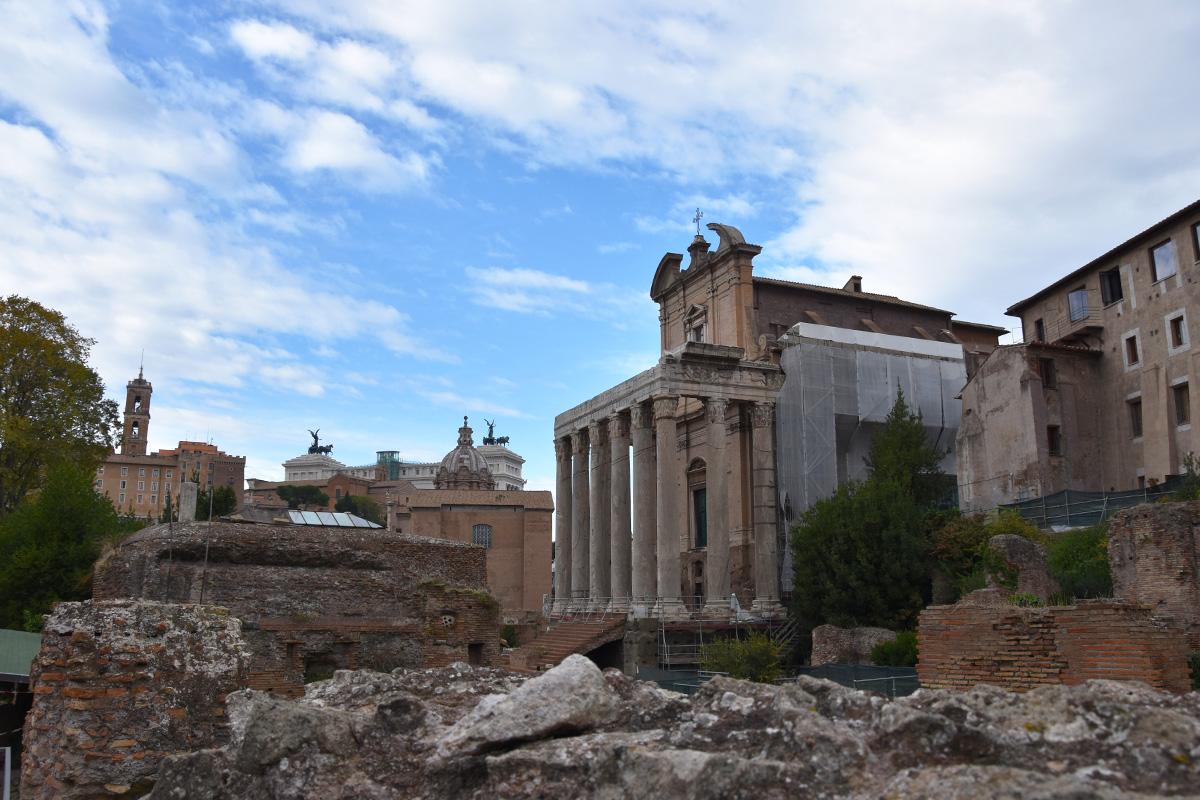 Het Forum Romanum in Rome