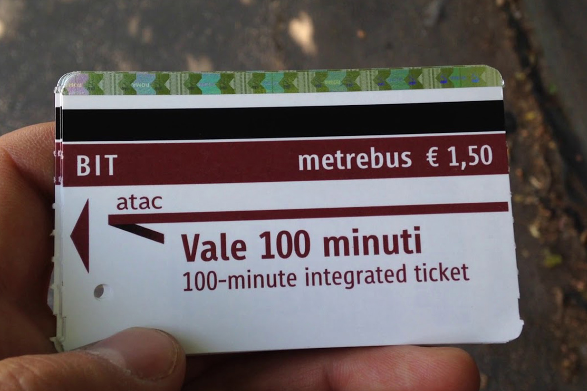 Ticket voor de metro in Rome