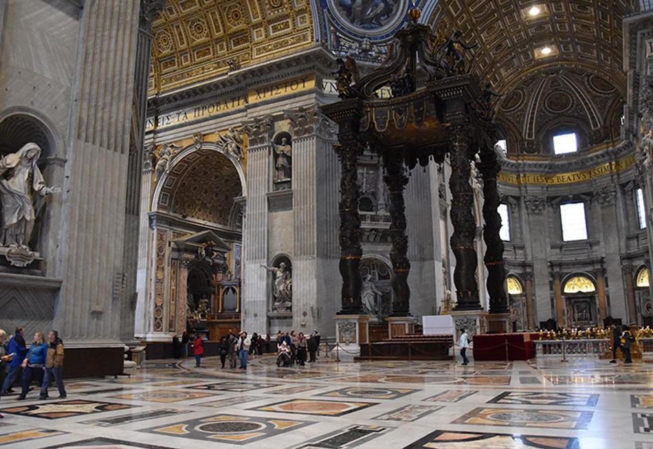 De Sint-Pietersbasiliek in Rome