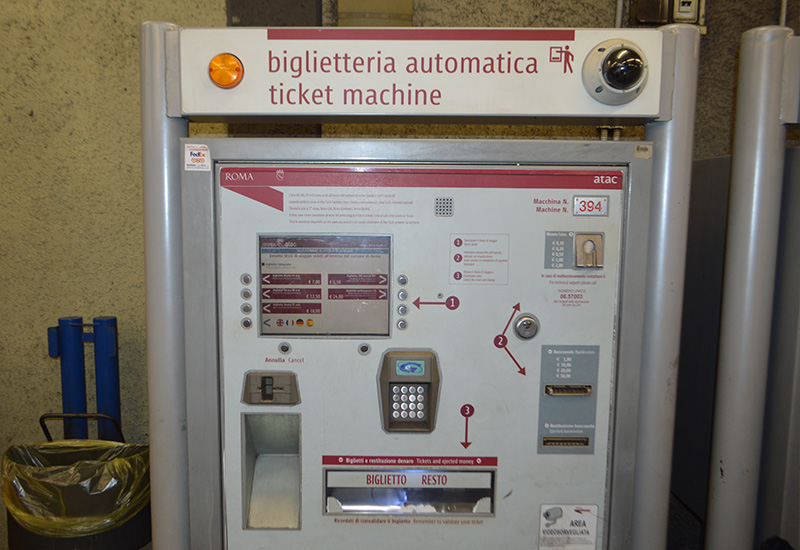 Tickets voor de metro in Rome
