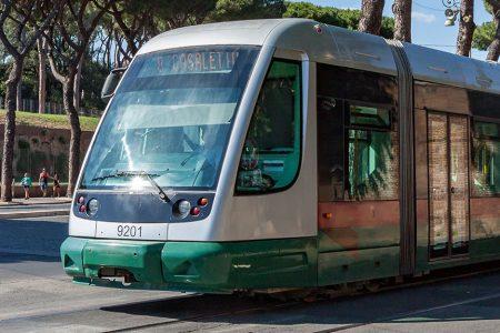 De tram in Rome